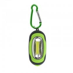 Porte-clés mini lampe LED COB aimante à mousqueton