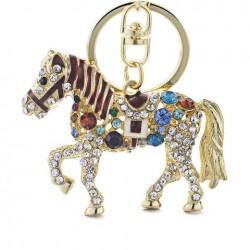 Porte-clés cheval doré