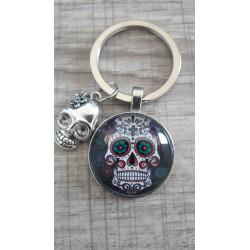 Porte-clés crâne tête de mort