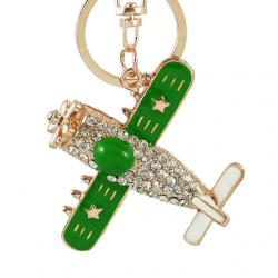 porte-clés avion à strass