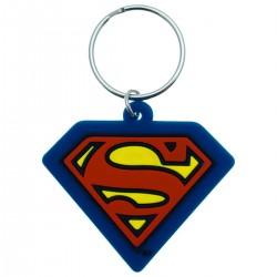 Porte-clés superman en caoutchouc