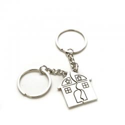 Porte-clés maison couple