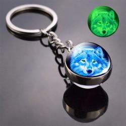 Porte-clés boule de verre...