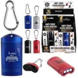 Porte-clés lampe torche allumage magnétique