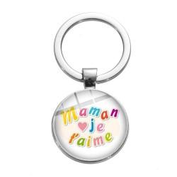 Porte-clés maman Je t'aime amour