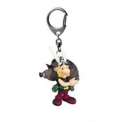 Porte-clés Astérix portant un sanglier