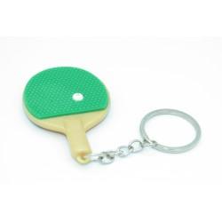 Porte-clés raquette de pingpong verte