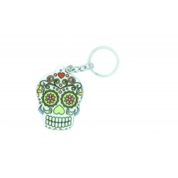 """Porte-clés crâne """"Dia de Muertos"""" jour des morts"""