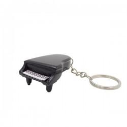 Porte-clés piano noir en bois