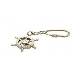 Porte-clés marin barre à roue classique