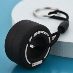 Porte-clés pneu F1 blanc