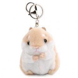 Porte-clés peluche hamster marron
