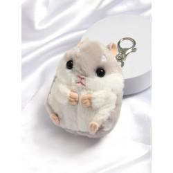 Porte-clés hamster gris