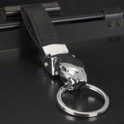 Porte-clés jaguar en cuir