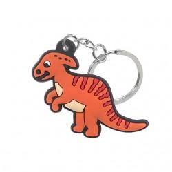 Porte clé dinosaure orange