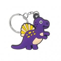 Porte clé dinosaure violet