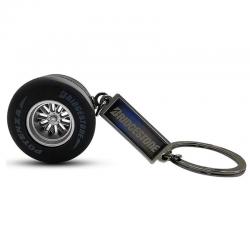 Porte-clés formule 1 noir avec plaquette