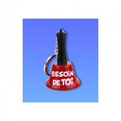 """Porte-clés clochette """"Besoin de toi"""""""