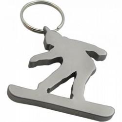 Porte-clés décapsuleur Snowboardeur gris