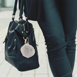 Porte-clés pompon avec mousqueton